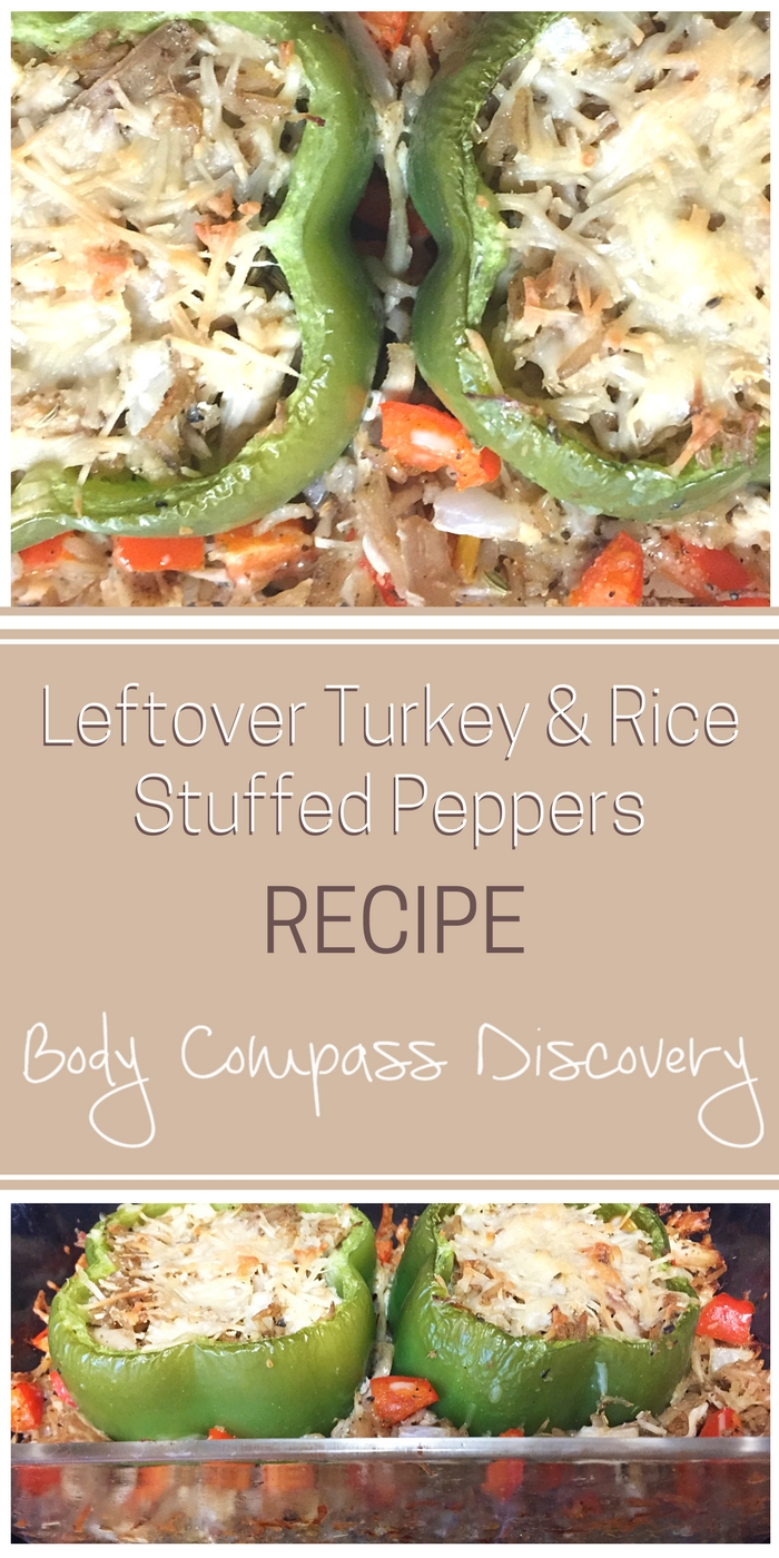 Leftover Turkey and Rice Stuffed Peppers Recipe