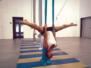 aerial yoga pose 1 photo