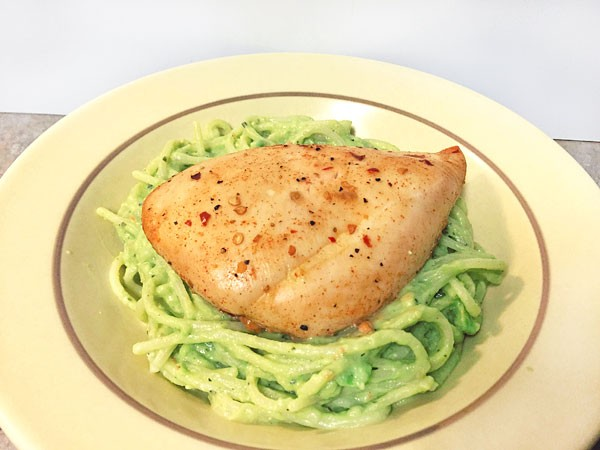 avocado sauce pasta with chicken