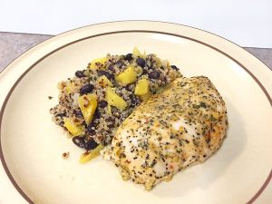 cilantro lime chicken with pineapple black bean rice