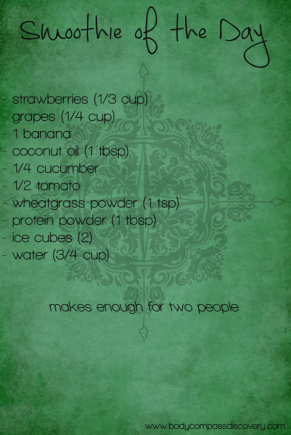 fruit & veggie wheatgrass smoothie recipe 1