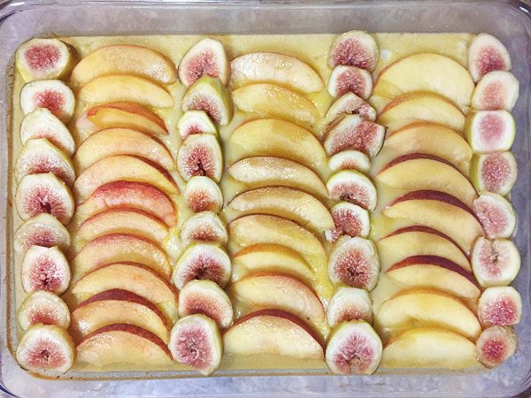 fig and peach lemon tart prebaked photo