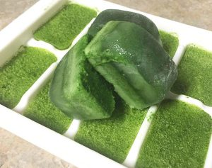 frozen superfood spinach cubes photo