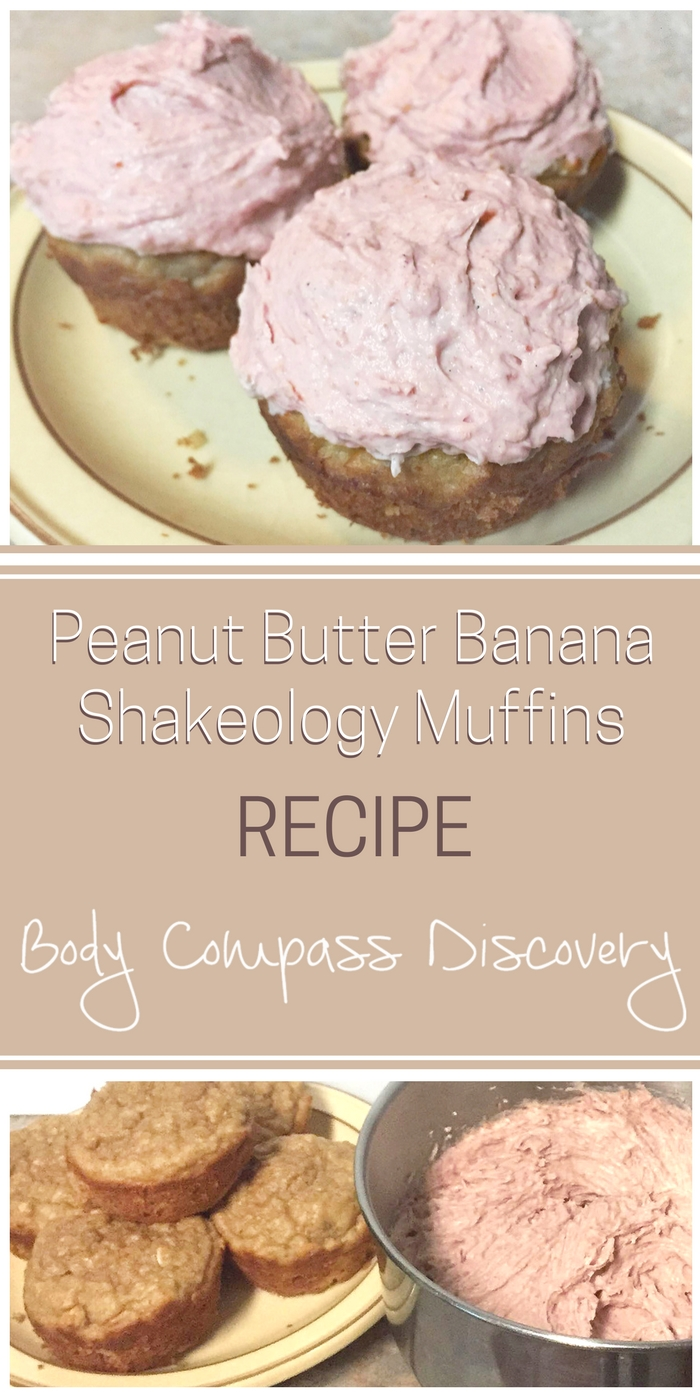 Peanut Butter Banana Muffins with Shakeology Frosting recipe