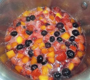 mixed fruit compote