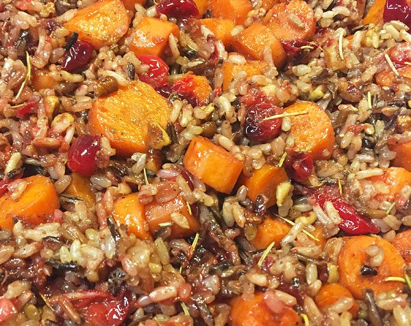 cranberry carrot pecan wild rice