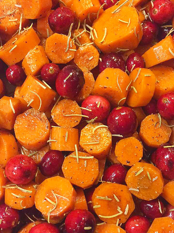 roasted cranberry and carrots