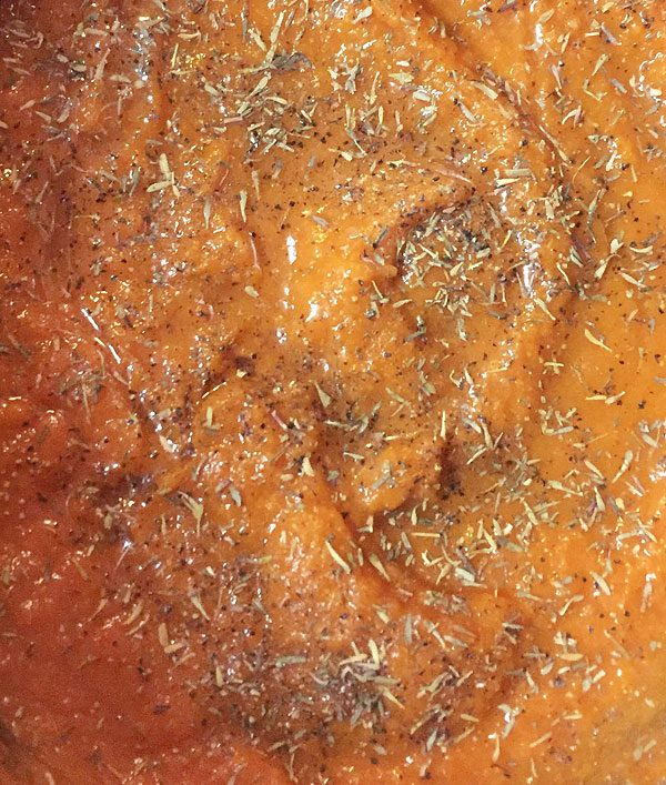 seasoned pumpkin puree