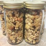 chai spice chex mix jars