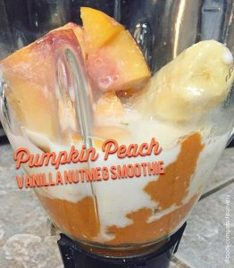 pumpkin peach vanilla nutmeg smoothie