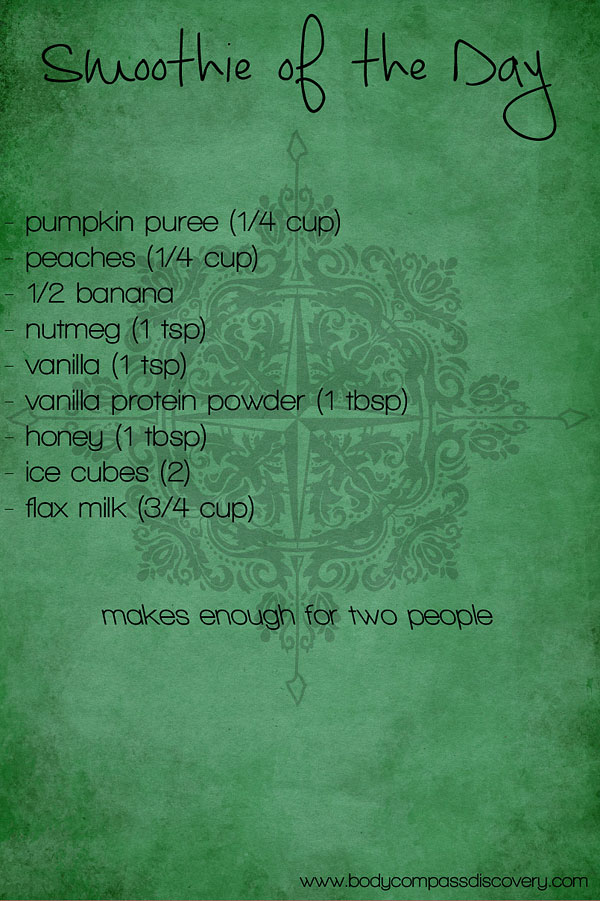 pumpkin peach smoothie recipe