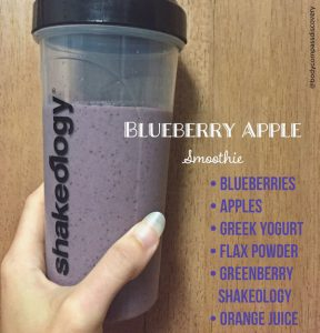 blueberry apple protein shakeology