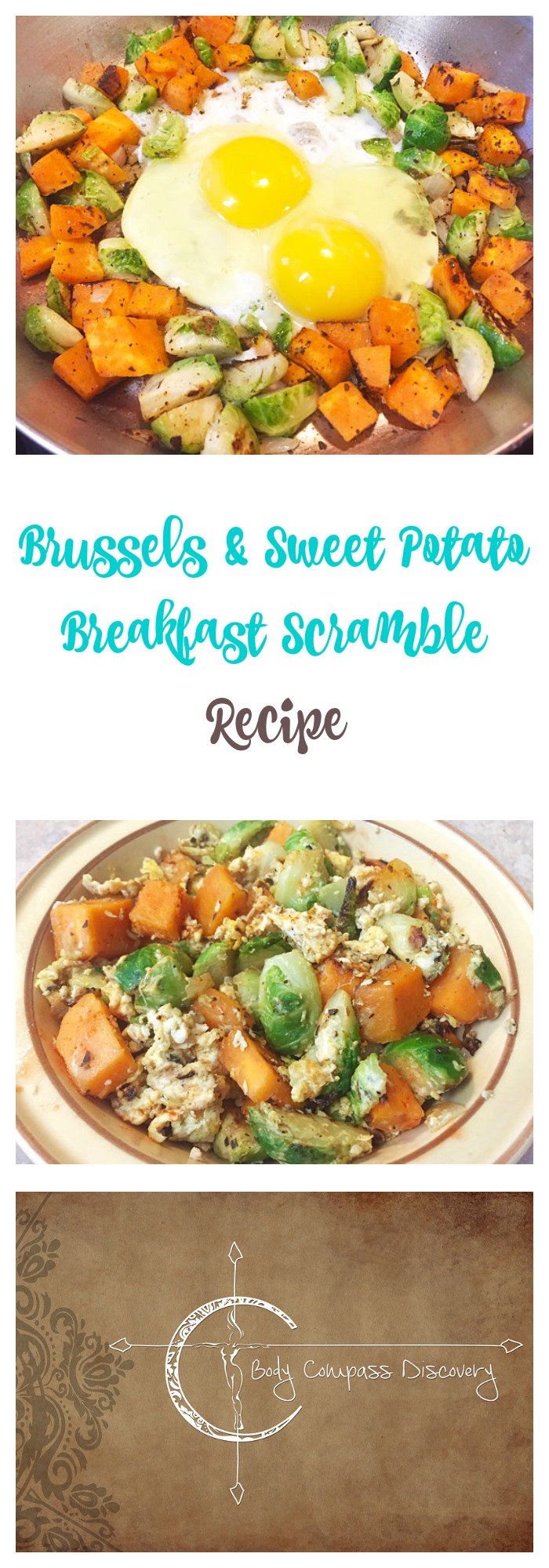Brussels & Sweet Potato Scramble recipe