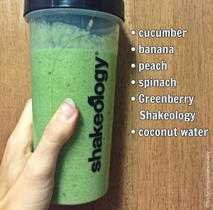cucumber peach greenberry shakeology