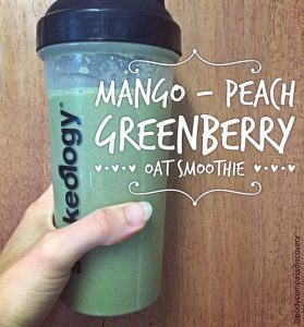 mango peach greenery oat shakeology