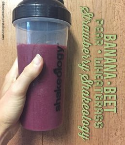 pear banana strawberry beet shakeology
