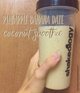 pineapple banana date coconut shakeology