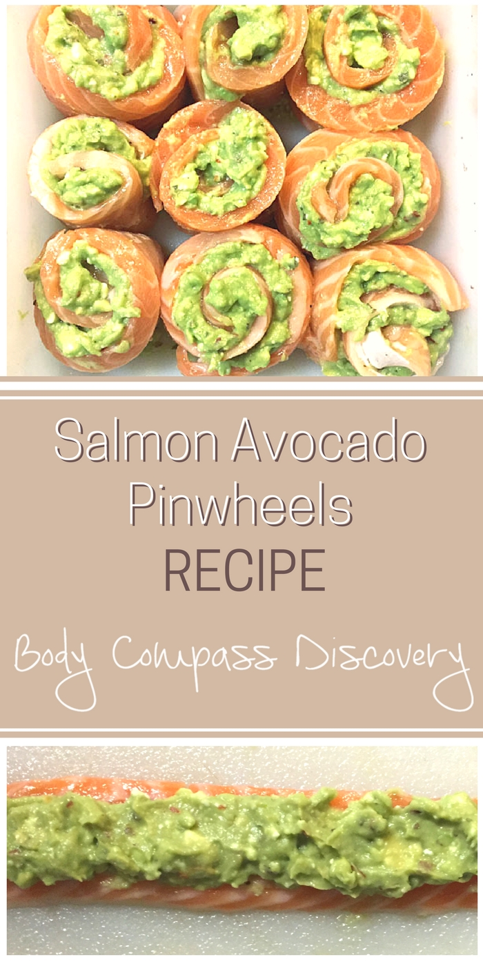 Salmon Avocado Pinwheels recipe