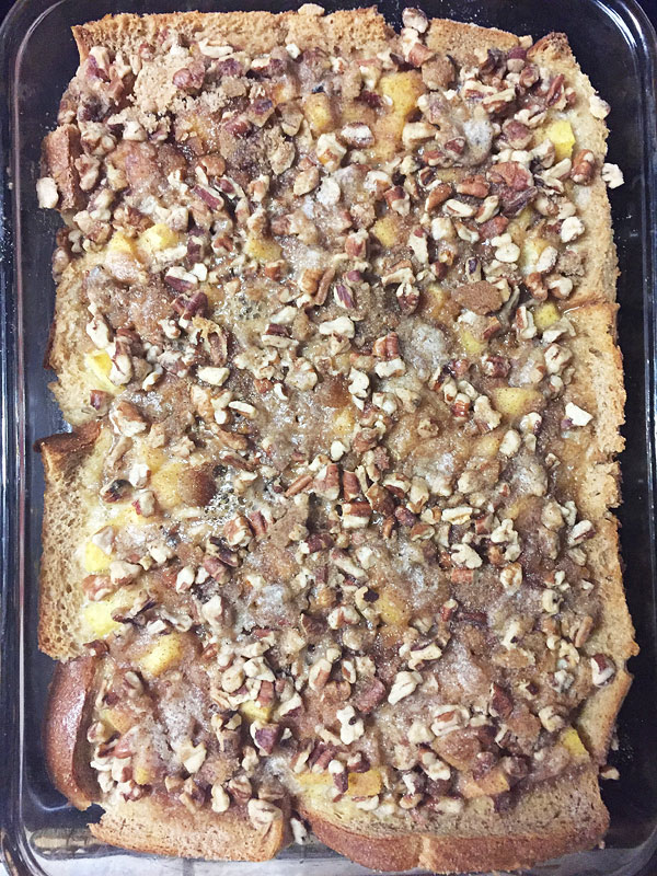 peach pecan french toast bake