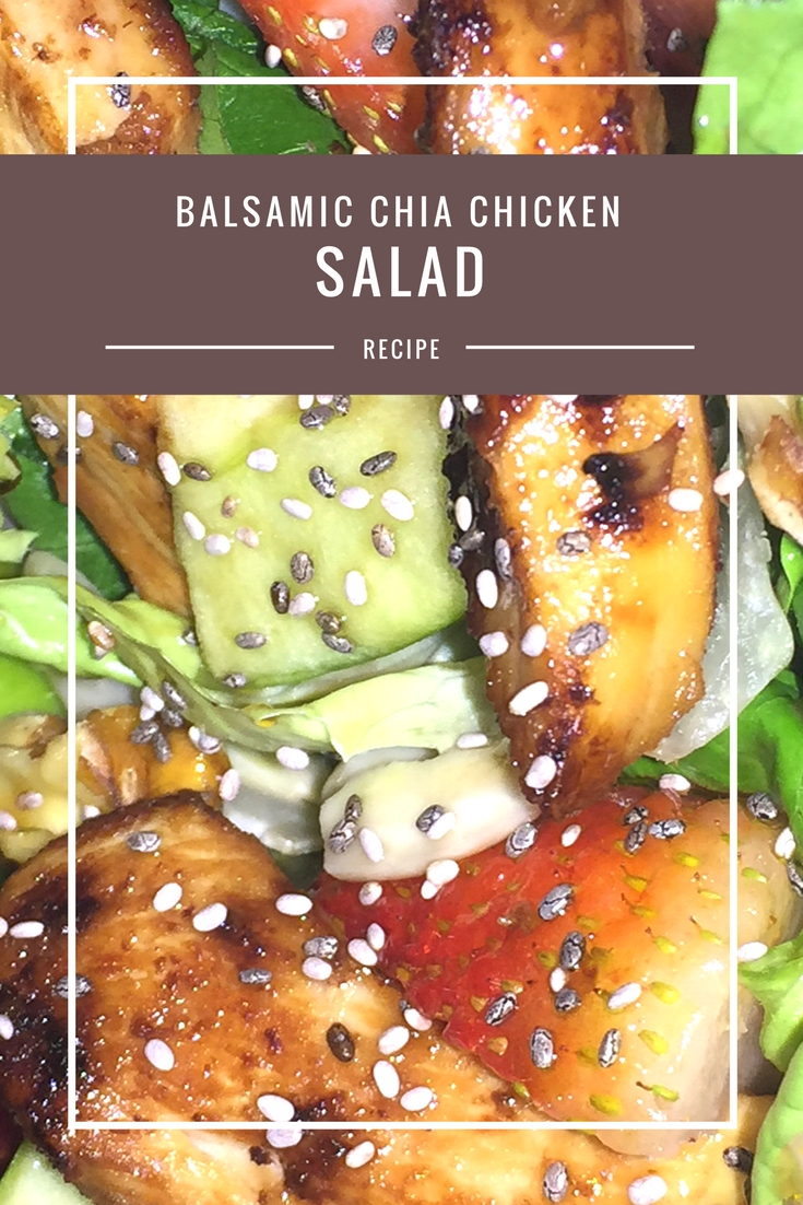 Balsamic Chia Chicken Fruit & Nut Salad from Body Compass Discovery's blog
