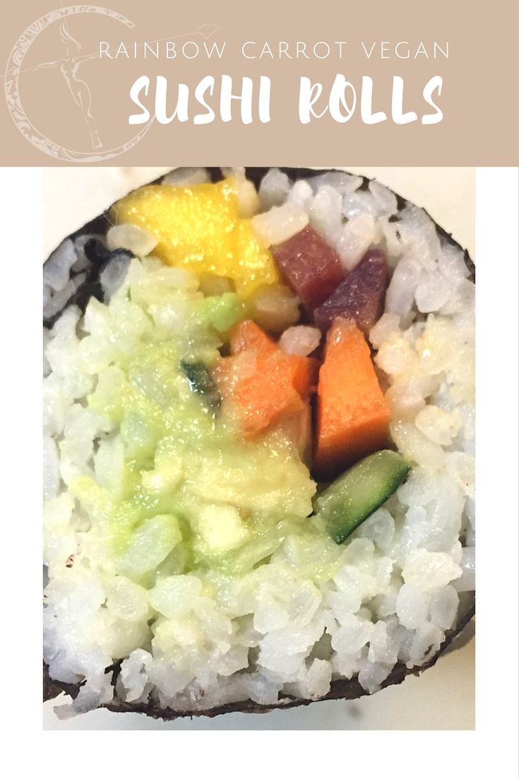 Rainbow Carrot Vegan Sushi Rolls from Body Compass Discovery's blog