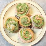 salmon avocado pinwheels