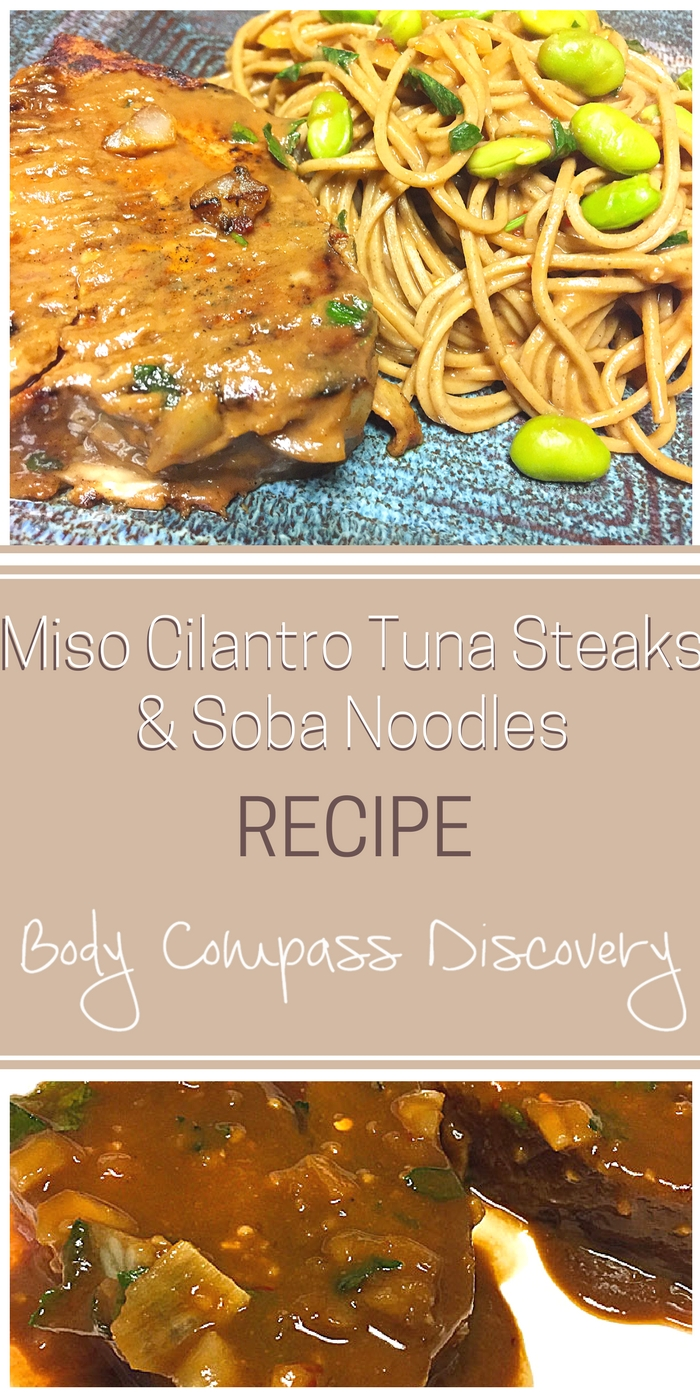 Miso Cilantro Tuna Steaks recipe
