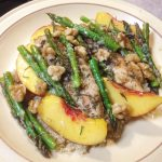 nectarine chicken with asparagus
