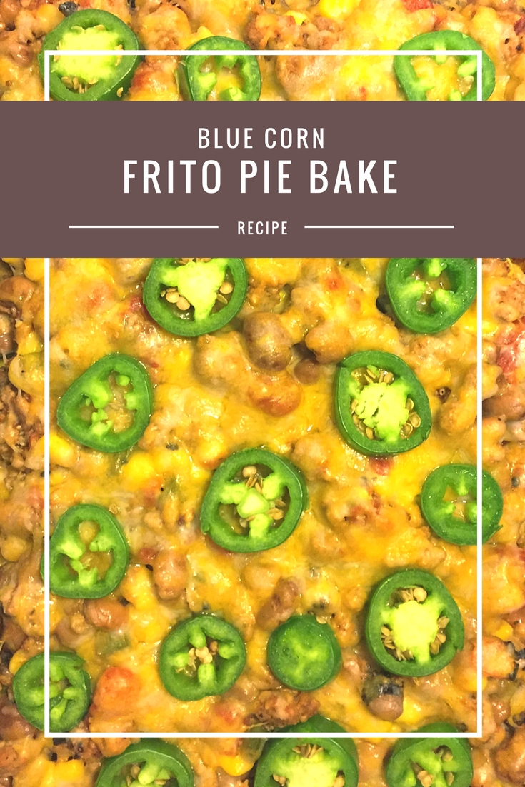 Blue Corn Frito Pie bake from Body Compass Discovery's blog