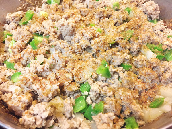 seasoned ground turkey with mexican spices