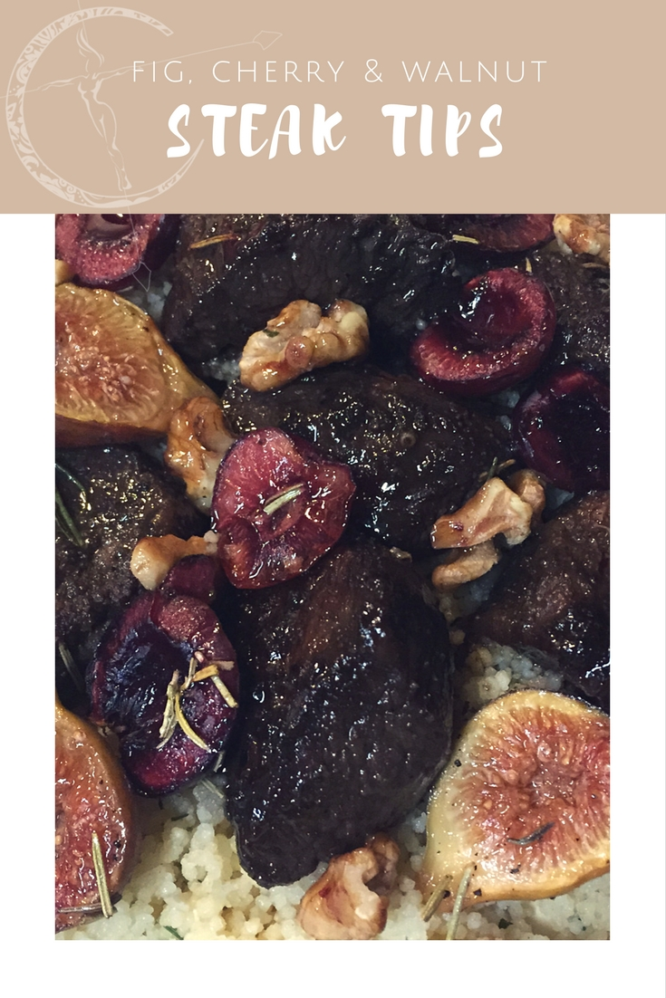 Fig and Cherry Steak Tips recipe from Body Compass Discovery's blog