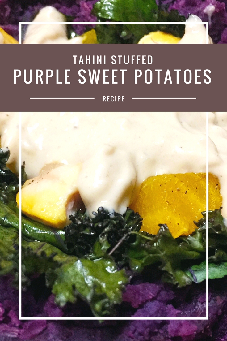 Purple Stuffed Sweet Potatoes recipe from Body Compass Discovery's blog
