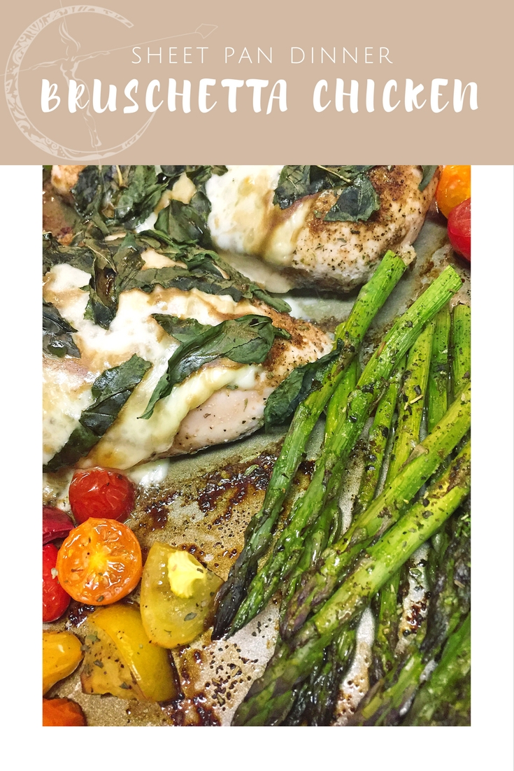 Sheet Pan Bruschetta Chicken recipe from Body Compass Discovery's blog