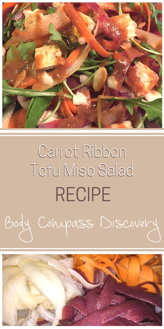 Miso-Ginger Carrot Ribbon Tofu Salad recipe