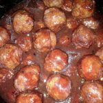 cherry chipotle bbq meatballs appetizer