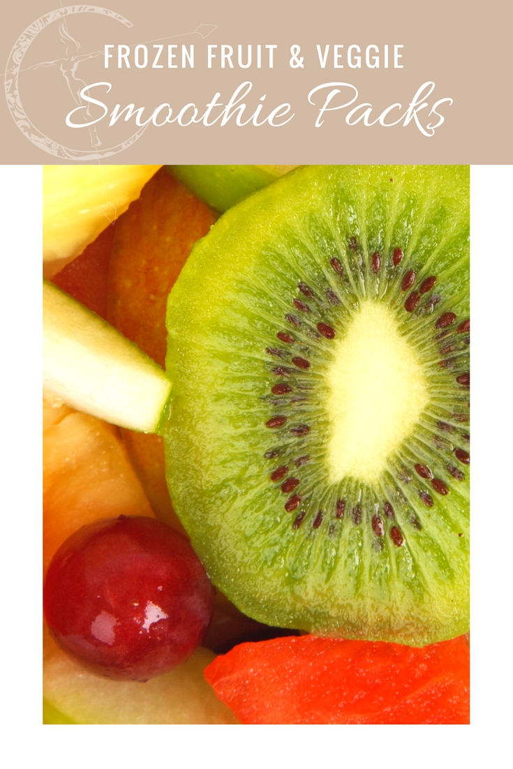 Frozen fruit and vegetable smoothie packs kitchen tips from Body Compass Discovery blog