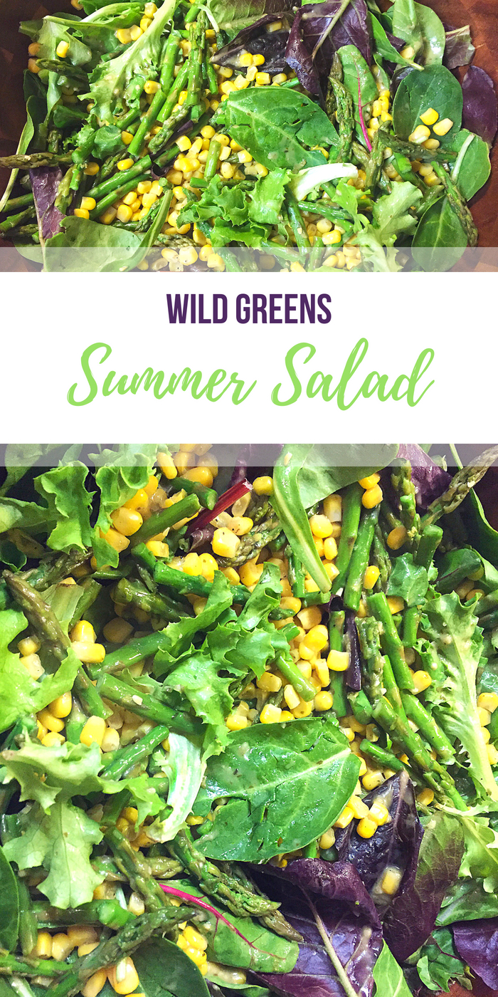Summer Wild Greens Asparagus and Corn Salad recipe