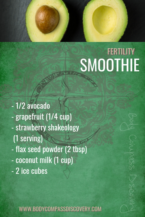 Fertility smoothie recipe from Body Compass Discovery's blog