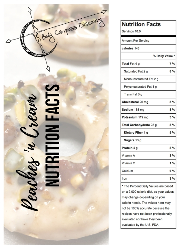 Peaches-n-Cream Donuts Nutrition Facts