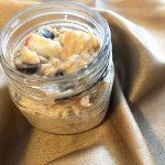 cooked date and apple oats in mason jar