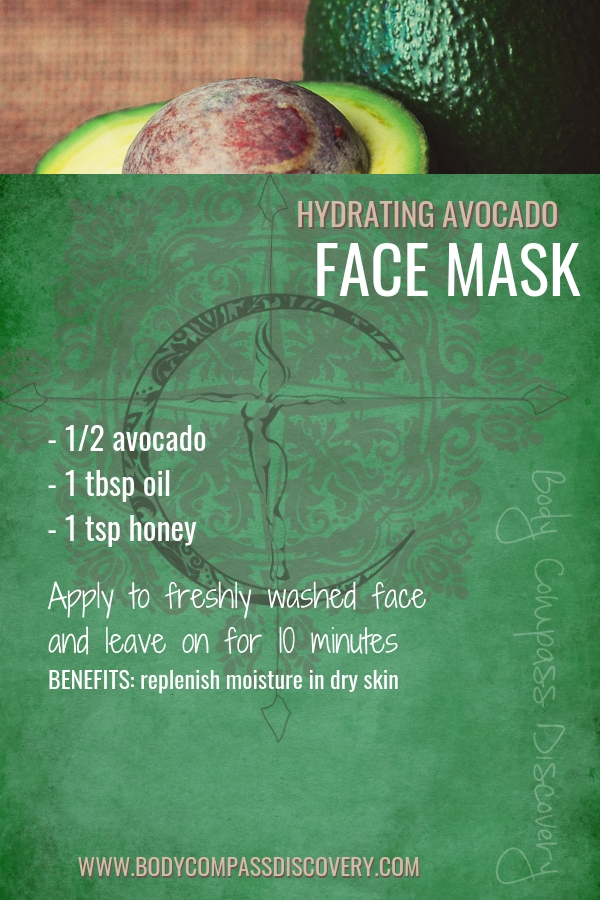 hydrating avocado face mask