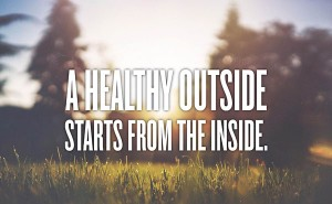 healthy outside starts within small quote