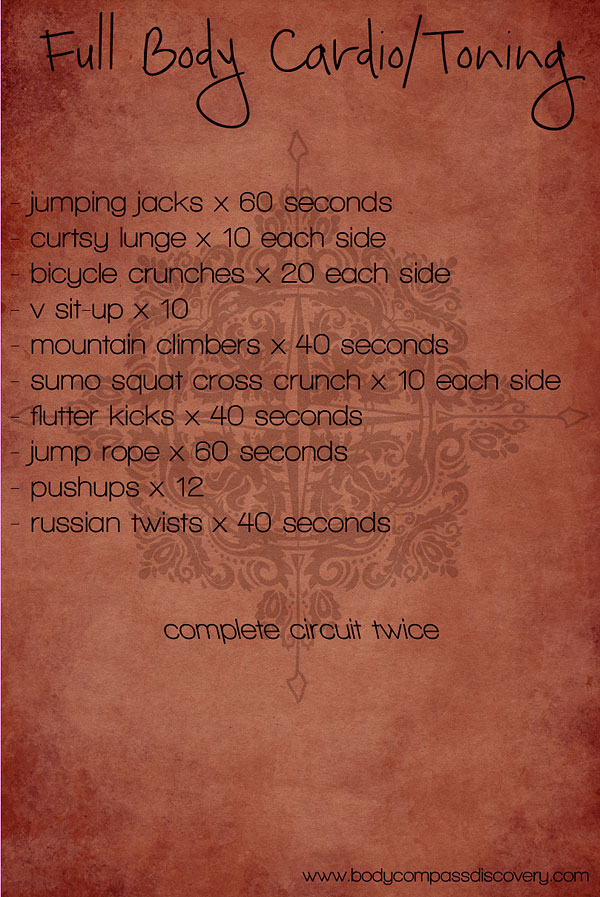 full body cardio and toning routine