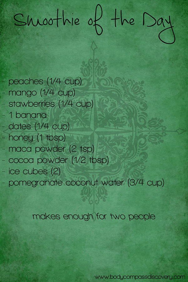 aphrodisiac smoothie ingredients