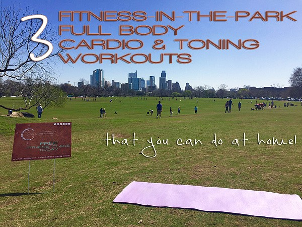three fitness in the park routines photo