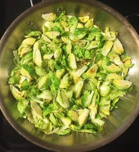 sautéed chopped brussels sprouts