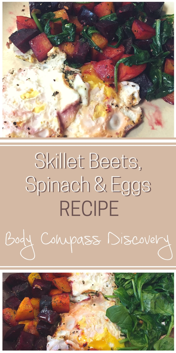 Skillet beets, spinach and eggs recipe