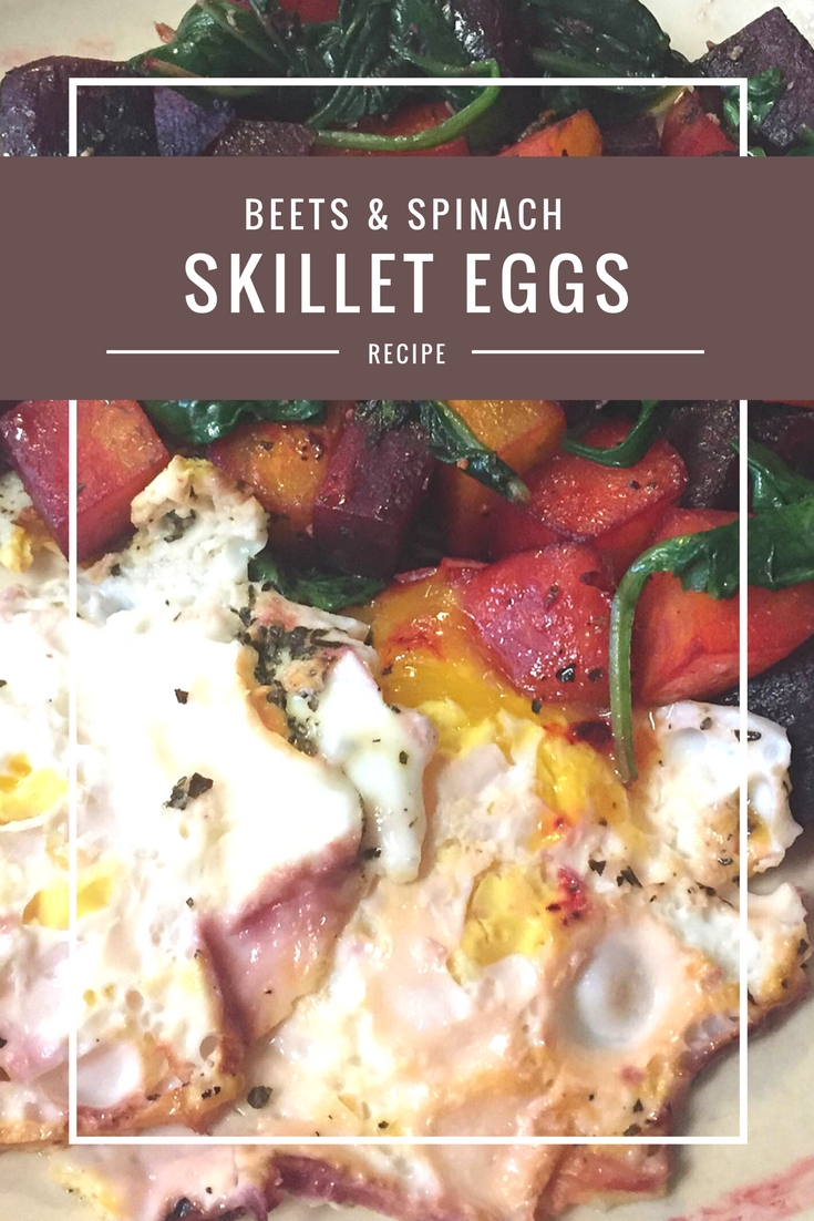 Skillet Eggs with Beets & Spinach from Body Compass Discovery's blog