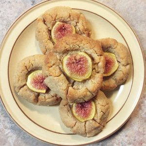 baked peanut butter fig cookies photo