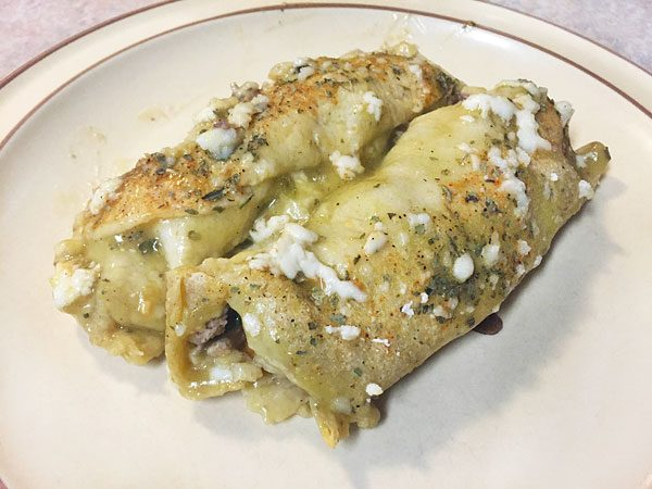 baked turkey and veggie enchiladas